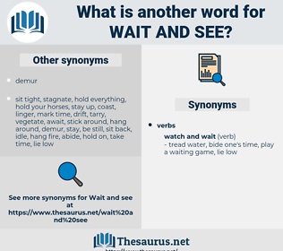 wait and see, synonym wait and see, another word for wait and see, words like wait and see, thesaurus wait and see