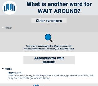 wait around, synonym wait around, another word for wait around, words like wait around, thesaurus wait around