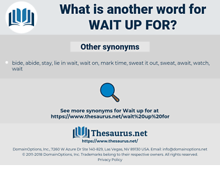 wait up for, synonym wait up for, another word for wait up for, words like wait up for, thesaurus wait up for