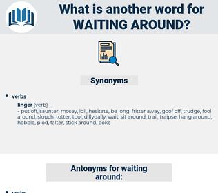 waiting around, synonym waiting around, another word for waiting around, words like waiting around, thesaurus waiting around