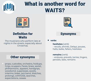 Waits, synonym Waits, another word for Waits, words like Waits, thesaurus Waits