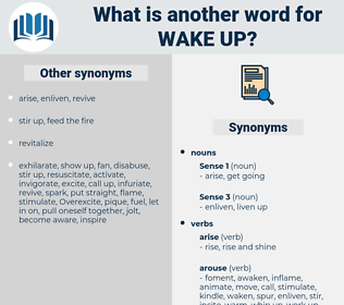 wake up, synonym wake up, another word for wake up, words like wake up, thesaurus wake up