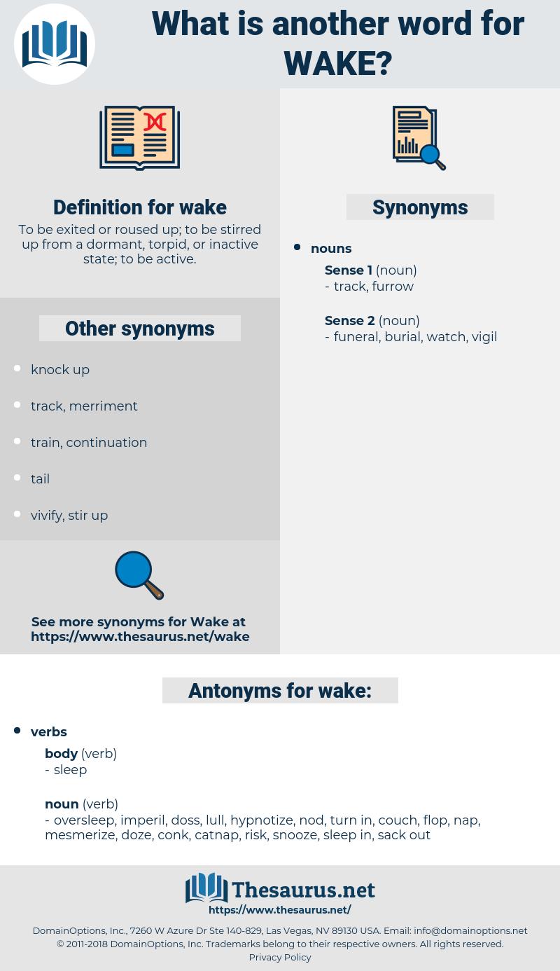 wake, synonym wake, another word for wake, words like wake, thesaurus wake
