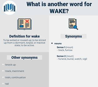 wake, synonym wake, another word for wake, words like wake, thesaurus wake