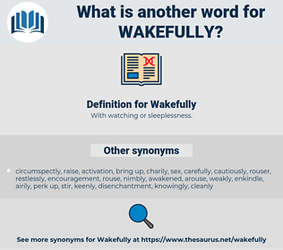 Wakefully, synonym Wakefully, another word for Wakefully, words like Wakefully, thesaurus Wakefully