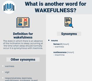 wakefulness, synonym wakefulness, another word for wakefulness, words like wakefulness, thesaurus wakefulness