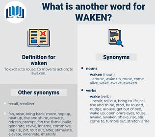 waken, synonym waken, another word for waken, words like waken, thesaurus waken