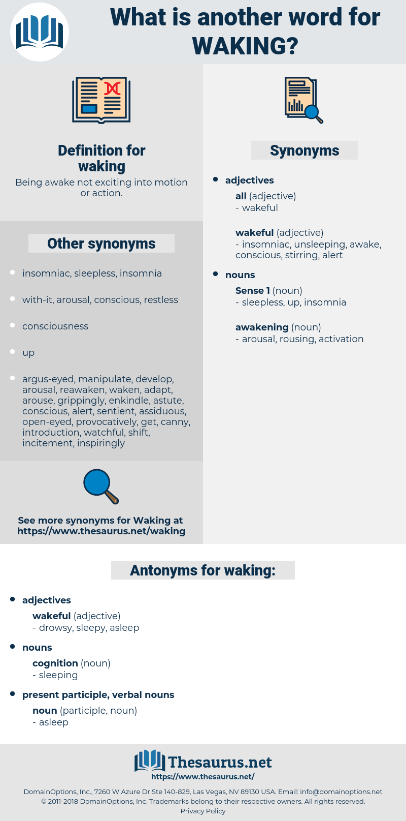 waking, synonym waking, another word for waking, words like waking, thesaurus waking