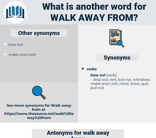 walk away from, synonym walk away from, another word for walk away from, words like walk away from, thesaurus walk away from