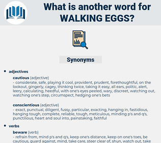 walking eggs, synonym walking eggs, another word for walking eggs, words like walking eggs, thesaurus walking eggs