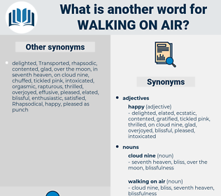 walking on air, synonym walking on air, another word for walking on air, words like walking on air, thesaurus walking on air