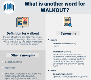 walkout, synonym walkout, another word for walkout, words like walkout, thesaurus walkout