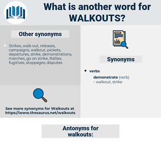 walkouts, synonym walkouts, another word for walkouts, words like walkouts, thesaurus walkouts