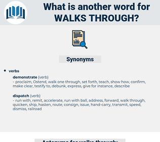 walks through, synonym walks through, another word for walks through, words like walks through, thesaurus walks through