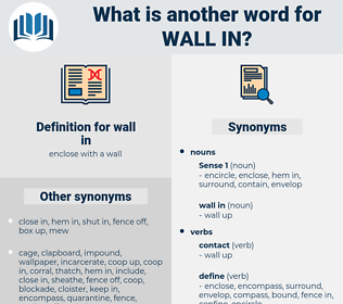 wall in, synonym wall in, another word for wall in, words like wall in, thesaurus wall in