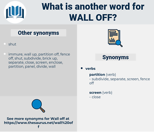wall off, synonym wall off, another word for wall off, words like wall off, thesaurus wall off