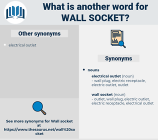 wall socket, synonym wall socket, another word for wall socket, words like wall socket, thesaurus wall socket