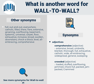 wall to wall, synonym wall to wall, another word for wall to wall, words like wall to wall, thesaurus wall to wall
