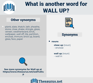 wall up, synonym wall up, another word for wall up, words like wall up, thesaurus wall up