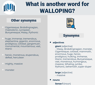 walloping, synonym walloping, another word for walloping, words like walloping, thesaurus walloping