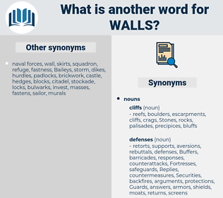 walls, synonym walls, another word for walls, words like walls, thesaurus walls