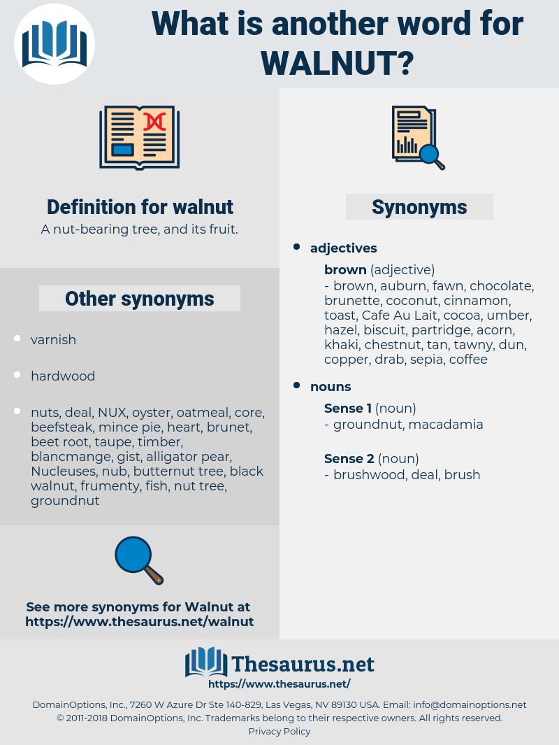 walnut, synonym walnut, another word for walnut, words like walnut, thesaurus walnut