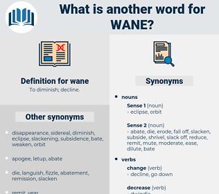 wane, synonym wane, another word for wane, words like wane, thesaurus wane