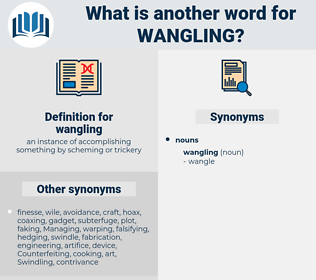 wangling, synonym wangling, another word for wangling, words like wangling, thesaurus wangling