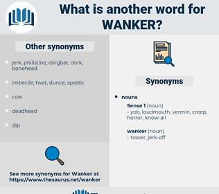 wanker, synonym wanker, another word for wanker, words like wanker, thesaurus wanker