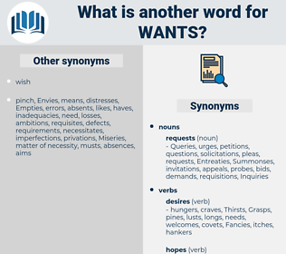 wants, synonym wants, another word for wants, words like wants, thesaurus wants