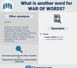 war of words, synonym war of words, another word for war of words, words like war of words, thesaurus war of words