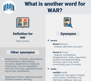 war, synonym war, another word for war, words like war, thesaurus war