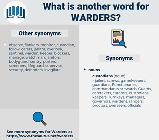 warders, synonym warders, another word for warders, words like warders, thesaurus warders