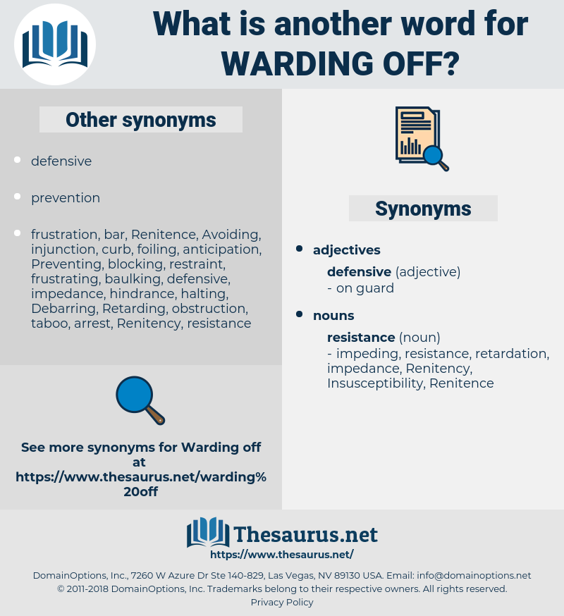 warding off, synonym warding off, another word for warding off, words like warding off, thesaurus warding off