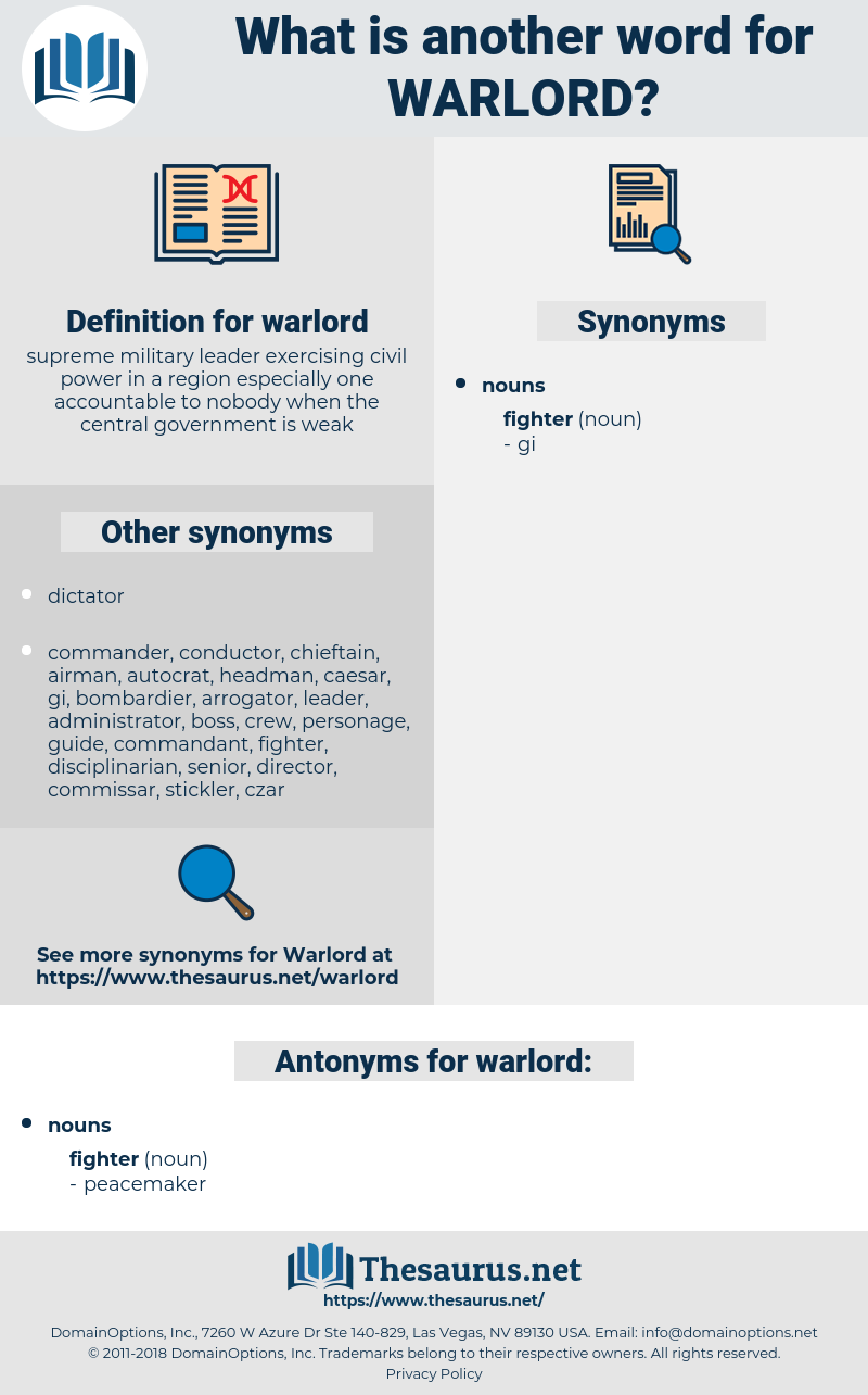 warlord, synonym warlord, another word for warlord, words like warlord, thesaurus warlord