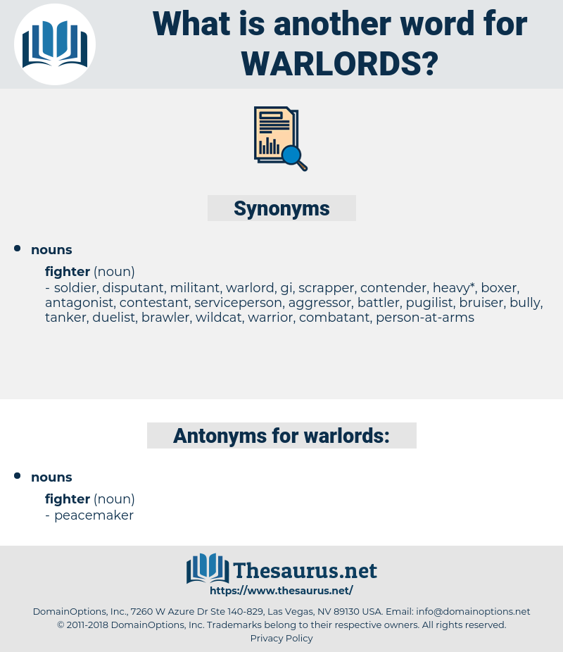 warlords, synonym warlords, another word for warlords, words like warlords, thesaurus warlords