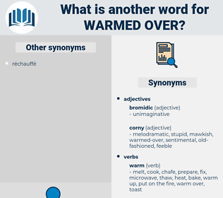 warmed-over, synonym warmed-over, another word for warmed-over, words like warmed-over, thesaurus warmed-over