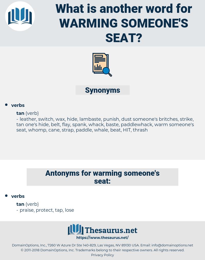 warming someone's seat, synonym warming someone's seat, another word for warming someone's seat, words like warming someone's seat, thesaurus warming someone's seat
