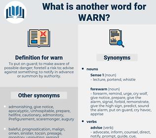 warn, synonym warn, another word for warn, words like warn, thesaurus warn