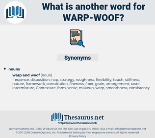 warp woof, synonym warp woof, another word for warp woof, words like warp woof, thesaurus warp woof
