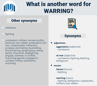 warring, synonym warring, another word for warring, words like warring, thesaurus warring