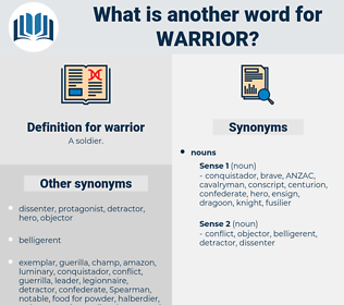 warrior, synonym warrior, another word for warrior, words like warrior, thesaurus warrior