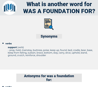 was a foundation for, synonym was a foundation for, another word for was a foundation for, words like was a foundation for, thesaurus was a foundation for