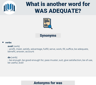was adequate, synonym was adequate, another word for was adequate, words like was adequate, thesaurus was adequate