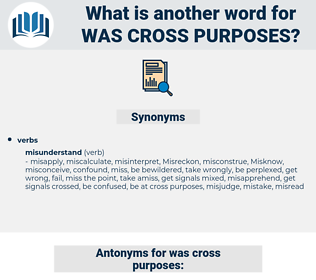 was cross purposes, synonym was cross purposes, another word for was cross purposes, words like was cross purposes, thesaurus was cross purposes