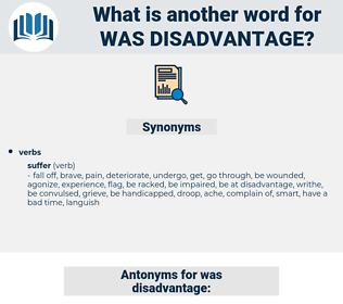 was disadvantage, synonym was disadvantage, another word for was disadvantage, words like was disadvantage, thesaurus was disadvantage