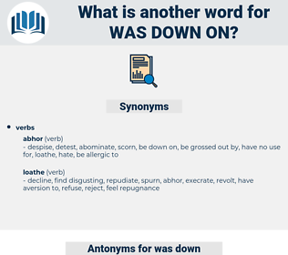 was down on, synonym was down on, another word for was down on, words like was down on, thesaurus was down on