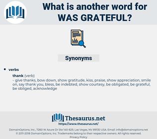 was grateful, synonym was grateful, another word for was grateful, words like was grateful, thesaurus was grateful