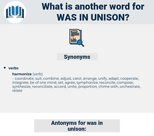 was in unison, synonym was in unison, another word for was in unison, words like was in unison, thesaurus was in unison