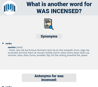 was incensed, synonym was incensed, another word for was incensed, words like was incensed, thesaurus was incensed